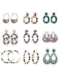 Jstyle 3-4 Pairs Stainless Steel Dangle Earrings for Women Drop Earrings