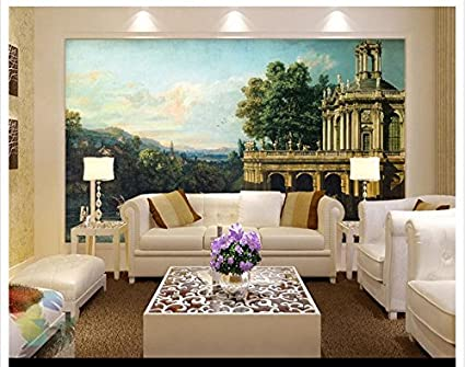 Mznm 3D Wallpaper Wall Murals Building Palaces Rural Caprices European Background Paintings