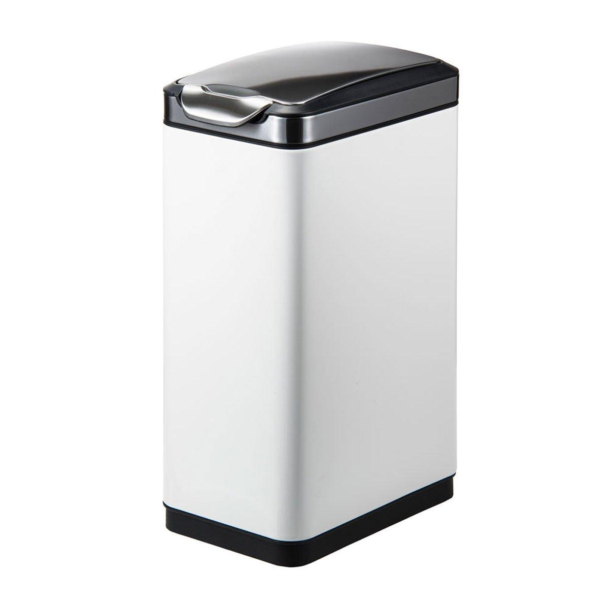 ゴミ箱 ごみ箱 30リットル ふた付き おしゃれ スリム EKO タッチプロ ビン スリム 30L ホワイト EK9177MP B074L4ST44