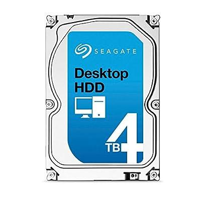 Seagate 4TB Desktop HDD SATA 6Gb/s 64MB Cache 3.5-Inch Internal Bare Drive (ST4000DM000) by SEAGATE