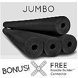 4 Pack Oodles Monster 55 Inch x 3.5 Inch Jumbo Swimming Pool Noodle Foam Multi-Purpose Black