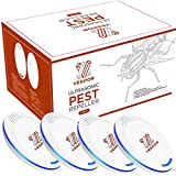 Vespor Ultrasonic Pest Repeller 4 Pack Pest Reject Electronic Plug in - Pest Control...