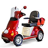 E-Wheels - EW-52 Heavy Duty Bariatric Scooter - 4-Wheel - 18''W x 19''D - Red