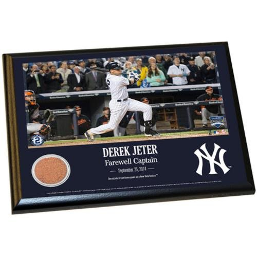 Derek Jeter New York Yankees (Final Yankee Moment) 8x10 Dirt Plaque - - Yankees Plaque York New