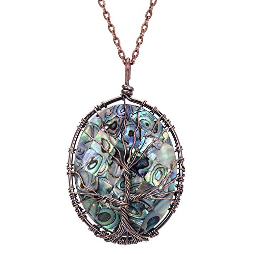 Tree of Life Pendant Nature Abalone Shells Handmade for sale  Delivered anywhere in USA