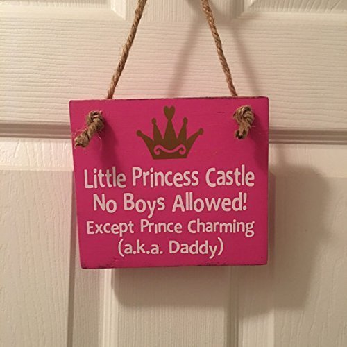 Little Princess Castle Wooden Nursery / Girl's Room Door Sign (Princess House Decor compare prices)