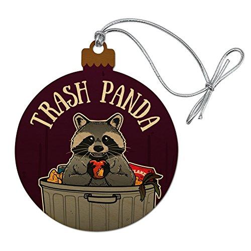 GRAPHICS & MORE Raccoon Trash Panda in Garbage Wood Christmas Tree Holiday Ornament -