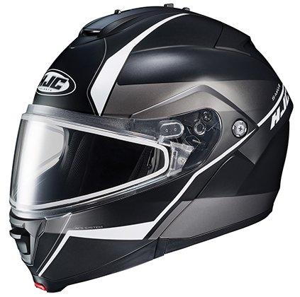 HJC Helmets IS-MAX2SN MINE Unisex-Adult Modular/Flip-Up Snow Helmet with Frameless Dual Lens Shield (Black/White, X-Large) ()
