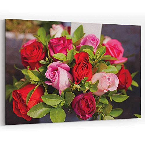- Actorstion Paris Flower Market Roses Canvas Art Wall Dcor for Home Decor Stretched-Framed Ready to Hang