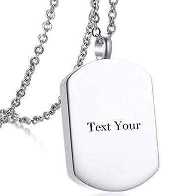 Juanquan Collar de Mujer Personalizado Etiqueta de ...