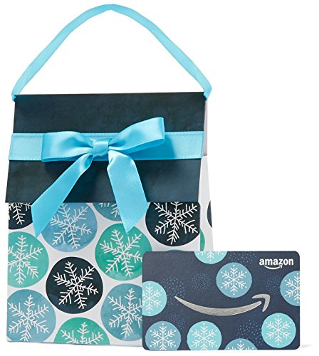 Amazon.com Gift Card in a Snowflakes Gift Bag
