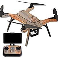 MightySkins Protective Vinyl Skin Decal for 3DR Solo Drone Quadcopter wrap cover sticker skins Barnwood