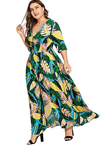 Milumia-Womens-Button-up-Split-Floral-Print-Flowy-Party-Maxi-Dress
