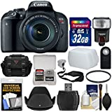 Canon EOS Rebel T7i Digital SLR Camera & EF-S 18-135mm IS STM Lens with 32GB Card + Case + Flash + Diffuser + Filter + Remote + Strap Kit