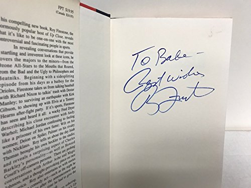 Roy Firestone UP CLOSE Signed Autographed Hard Cover Book (Cover Firestone)