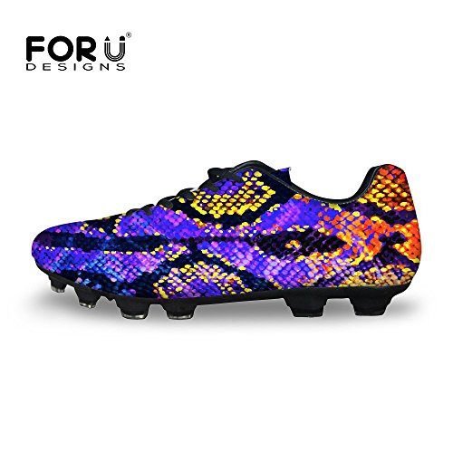 Top Lace Low Colorful Soccer U DESIGNS Purple Up Shoes Fashion FOR Men Snakeskin vBzqpgS