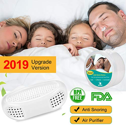 2-in-1 Anti Snoring Device [2019 Upgrade] Snoring Solution Nasal Dilator Nose Vents Plugs Clip Stop Snoring Aids Snore Stopper Reduce Snoring Sleep Aid Device for Ease Breathe Comfortable Sleep