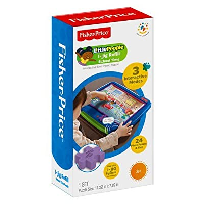 "Fisher Price I-Jig Interactive Electronic Puzzle System Refill - Little People ""School Time"": Toys & Games"