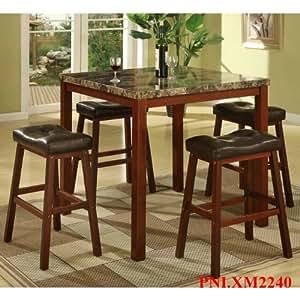 Amazon Com Roundhill Furniture P5101 5 Piece Sable