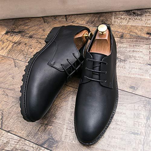 Oxford Hombre Negocios Negro Estilo Oxford Informal Zapatos de de para clásico w0X4xqS