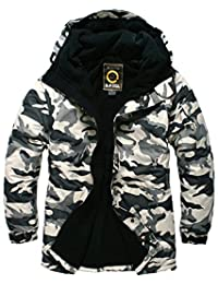 SOUTH PLAY Mens Premium Ski SnowBoard Wear Jacket Jumper CAMO WHITE