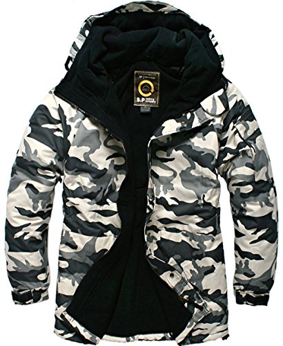 (Southplay South Play Mens Premium Ski Snowboard Wear Jacket Jumper Camo White)