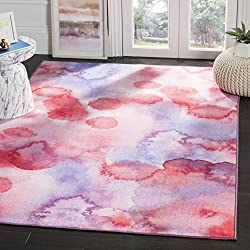 Safavieh Paint Brush Collection PTB122A Fuchsia and Lavender Area Rug (8' x 10')