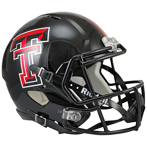 Texas Tech Red Raiders Officially Licensed NCAA Speed Full Size Replica Football Helmet by Riddell