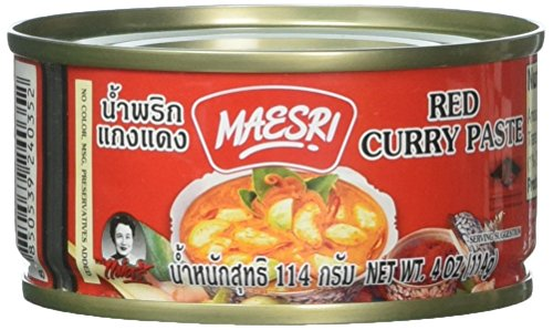 Red Curry Paste - Maesri Thai red curry - 4 oz x 2 cans