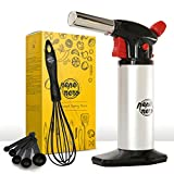 Cooking Torch Set For Creme Brulee By Pepe Nero: Culinary Torch - Kitchen Torch - Blow Torch - Professional Torch - Butane Chef Torch - Creme Brulee Torch - Gifts: Whisk & Measuring Spoons & Ebooks
