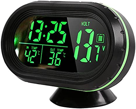 Amazon Com Vinmax Multi Functional Car Digital Clock Alarm Thermometer Voltmeter Lcd Led Auto Temperature Gauge Monitor Dc 12v 24v Car Electronics