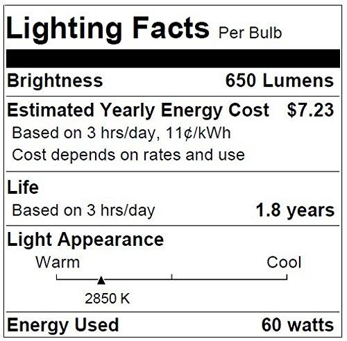 60 Watt Halogen Flood Light Bulbs