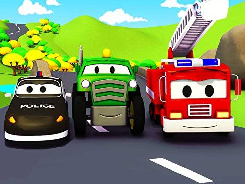 el-tractor-y-la-super-patrulla-mat-el-coche-de-policia-y-frank-el-camion-de-bomberos