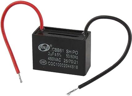 Aexit AC 450V 2uF condensador de funcionamiento del motor del ...