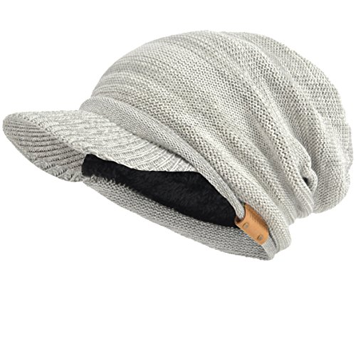1fc0df04b17 Galleon - VECRY Men s Oversize Slouch Beanie Slouchy Skullcap Large Baggy  Hat (Visor-Pale)