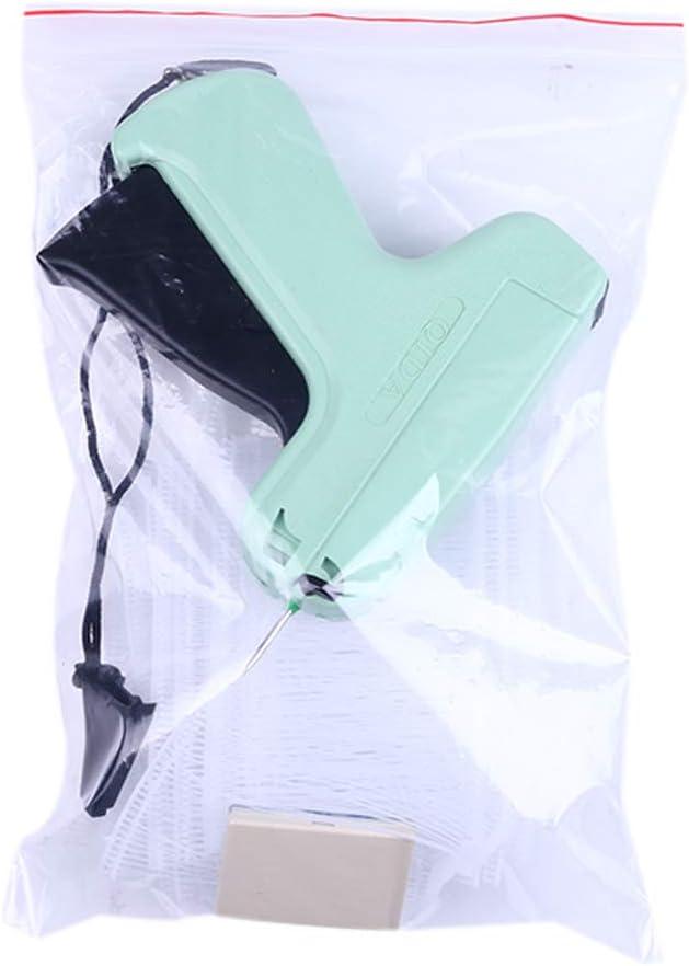 1000 Befestigungshaken blau+1000 Stacheln ZHOUXING Professionelle Standard-Etikettierpistole mit Komfortgriffen ergonomisches Design mit 5 Ersatznadeln