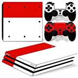 ZoomHit Ps4 PRO Playstation 4 PRO Console Skin Decal Sticker Red And White + 2 Controller Skins Set (Pro Only)