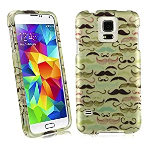 Samsung Galaxy S5 G900 Snap On Hard Protector Cover Case - Mustache Pattern
