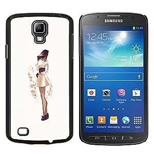 YiPhone /// Prima de resorte delgada de la cubierta del caso de Shell Armor - chica de moda de la sepia del vestido falda japonesa - Samsung Galaxy S4 Active i9295