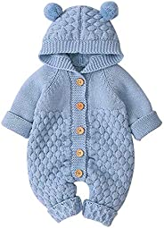 OLSCROM Unisex Baby Cloth Winter Coats Cute Newborn Infant Jumpsuit Snowsuit Bodysuits