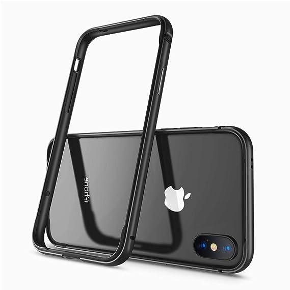 buy online 2d333 e04a9 Aluminum iPhone X/XS Case, IFCASE Slim Metal Aluminium Bumper (No Signal  Reduce) TPU Inner Shock Absorbing Case for iPhone Xs/X (Black)