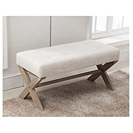 chairus Fabric Upholstered Ottoman Bench Seat