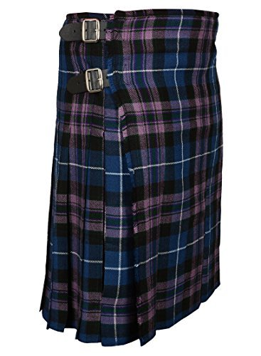 Scottish Pride Of Scottland Tartan Kilt FREE Flashes & Kilt Pin (Belly Button 40)