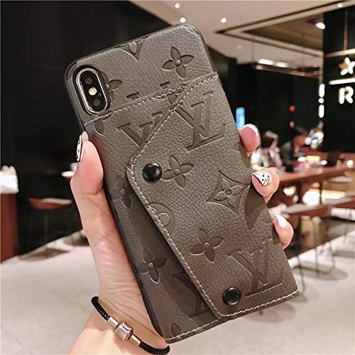 iPhone Xs Max Wallet Case (FBA Guarantee Fast Delivery) 2 in 1 Wallet Elegant Luxury Leather Detachable Case Closure Flip Brown Cover Case for iPhone Xs Max