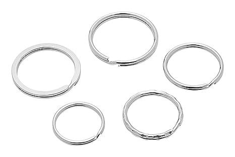 Wedo Keyrings 26230015 - Aros para llaves de metal, pack de 15 ...