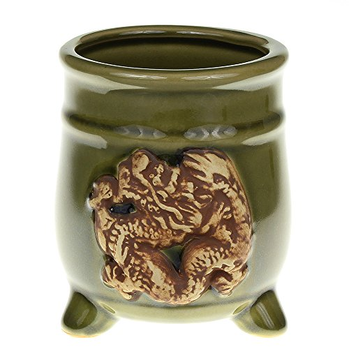 NW Wholesaler - Green Ceramic Round Footed Planter Pot with (Green Round Planter)