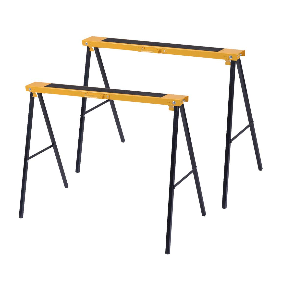 GJH One Heavy Duty Saw Horse Steel Folding Legs Portable Sawhorse Pair 2 Pack
