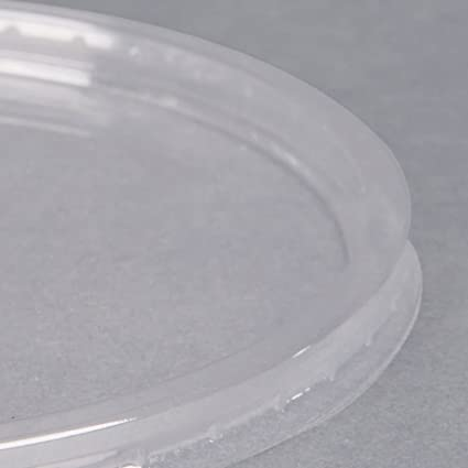 6a9679160e31 Amazon.com: BWS Ultra Clear Plastic Round Craft Food Meal Prep Slime ...