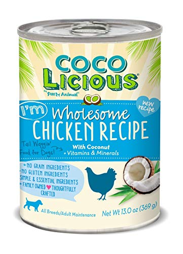 Party Animal - Coco Licious - Wholesome Chicken Recipe - Dog Recipe - Pack of 12 Cans - 13oz. by Party Animal (Image #2)