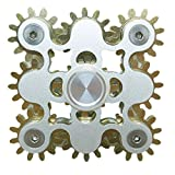 Fidget Spinner, DMaos Newest 9 Gear Spin Finger Games Hand Toy Smooth Metal Copper Stainless Steel Stable Bearing Crusader Durable Mechanics Romoveable EDC High Speed – Gold